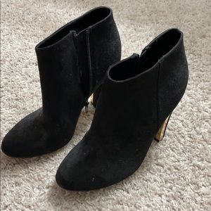 High heel ankle boots, two pairs.